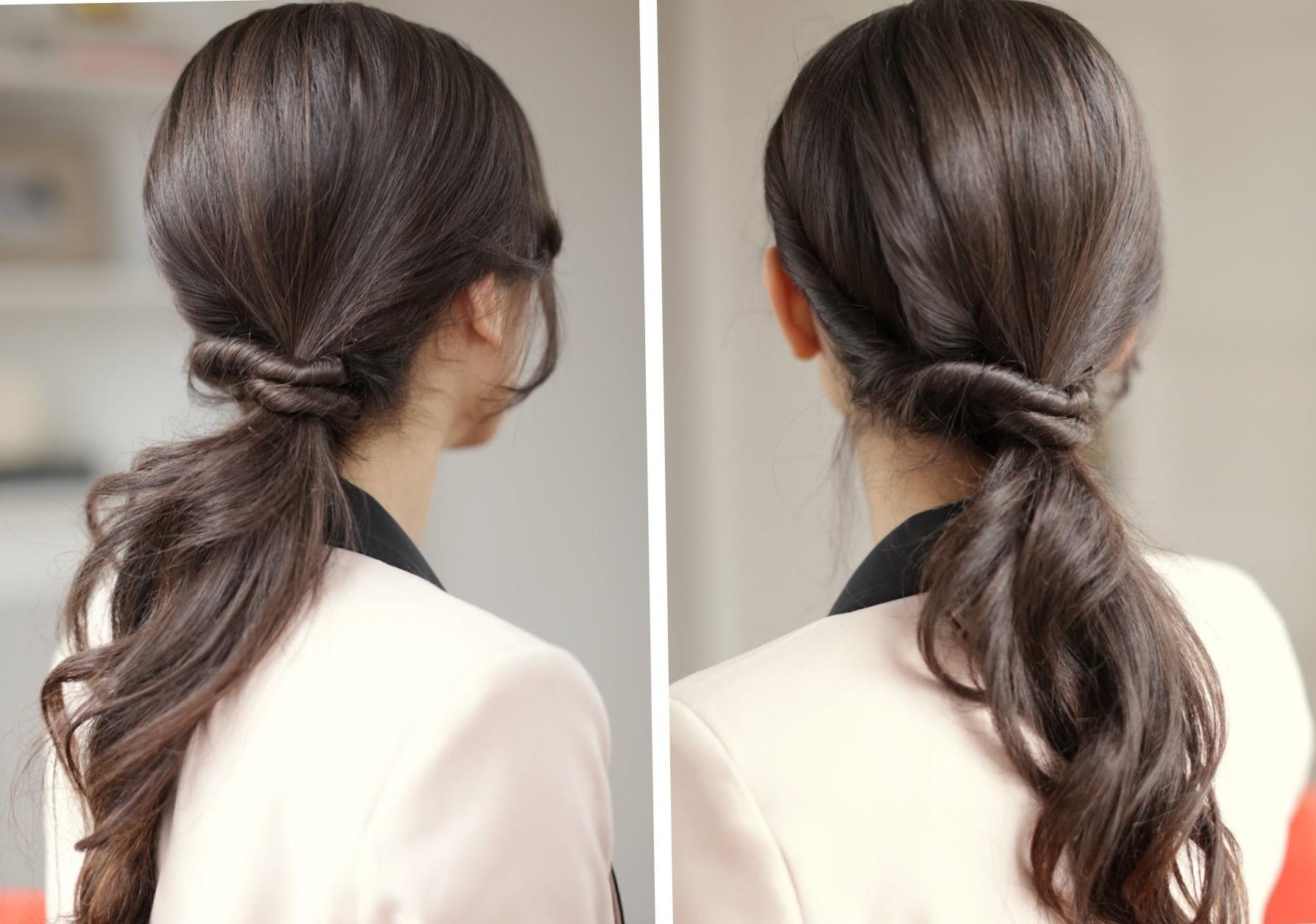 Интересные причёски на длинные волосы на каждый день своими руками 223