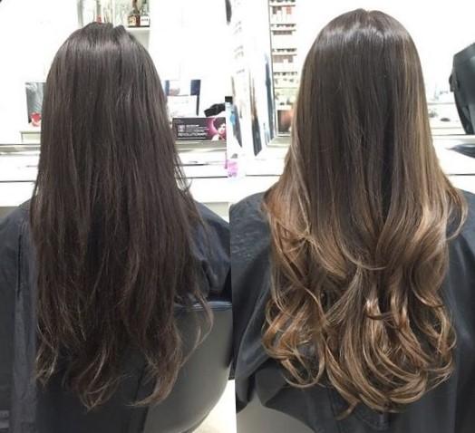 окрашивание волос балаяж, фото до и после