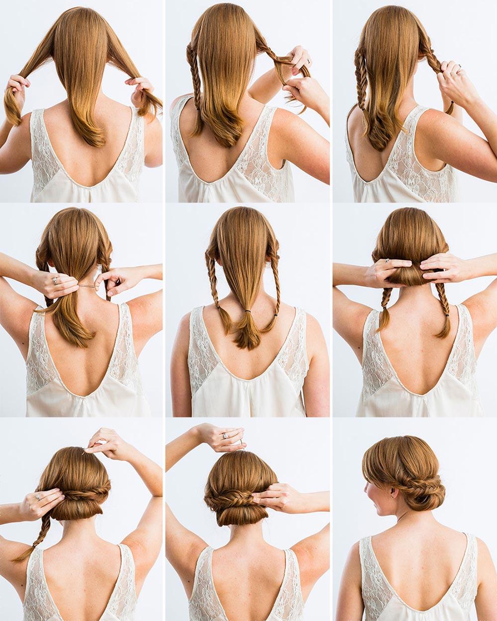 Прическа на средние волосы поэтапно фото