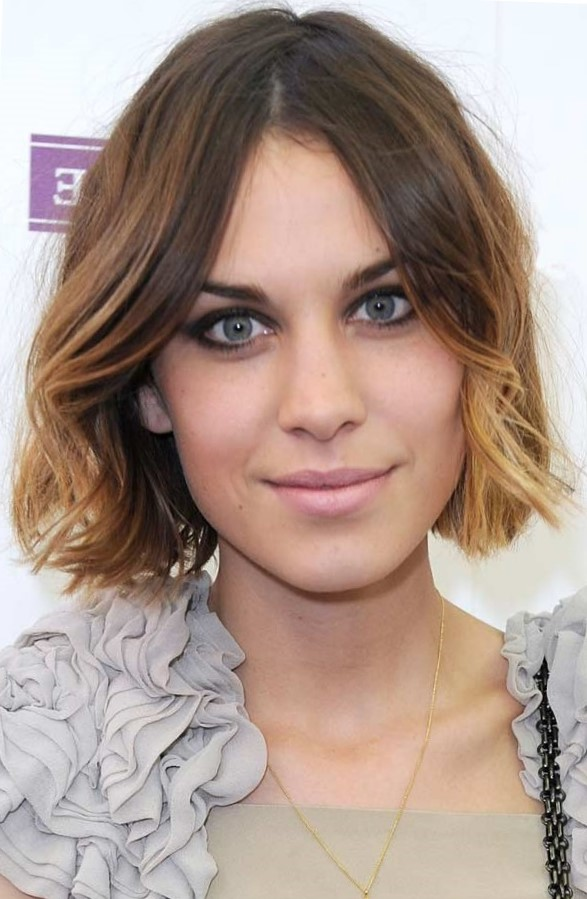 Красивое окрашивание волос для брюнеток омбре