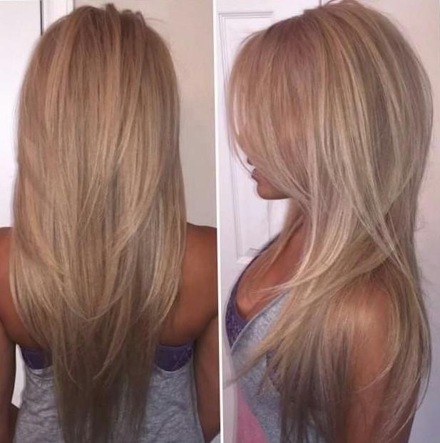 Стрижка лисий хвост на длинные волосы
