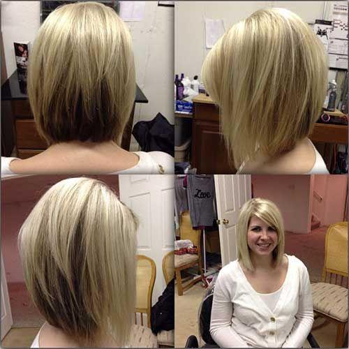 Стрижки на волосы до плеч вид сбоку и сзади