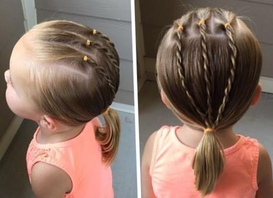 Детские прически на короткие волосы