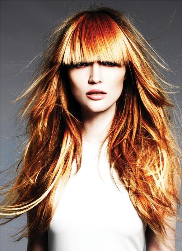 Креативные стрижки на длинные волосы с челкой