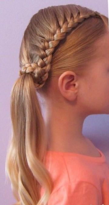 Школьная прическа на длинные волосы