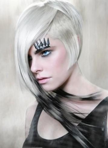 Асимметричная стрижка на длинные волосы