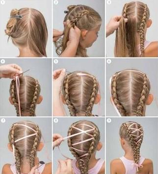 Плетение кос для девочек пошагам
