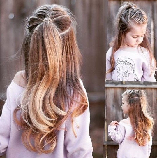 Самые простые прически для девочек на длинные волосы