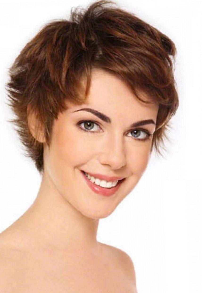 Прически для удлиненного лица на короткие волосы фото