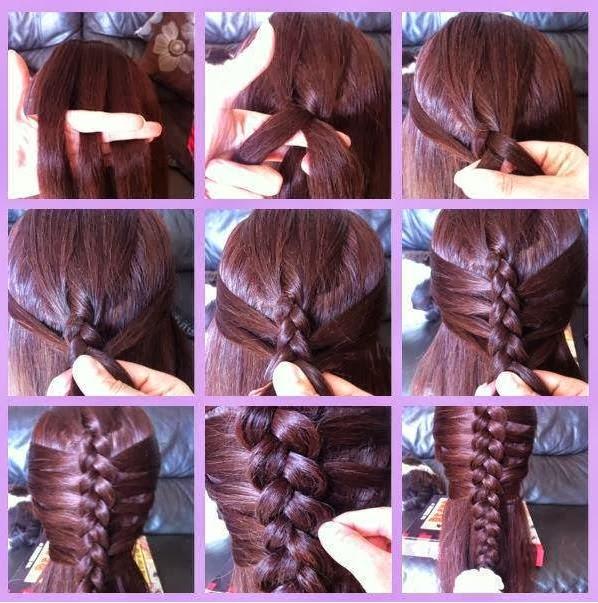 Плетение кос наизнанку видео