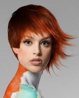 Асимметричная стрижка на короткие волосы