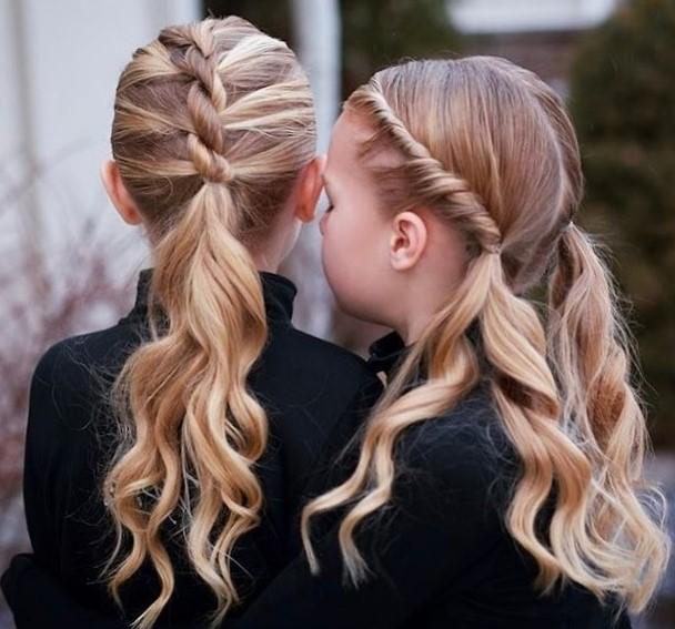 Самые простые прически для девочек в школу