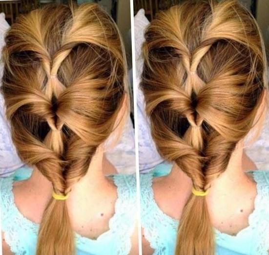 Прически для девочек на средние волосы легкие в школу