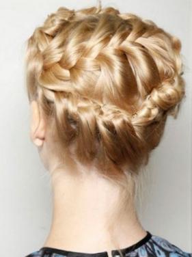 Собранные прически на длинные волосы на основе плетения