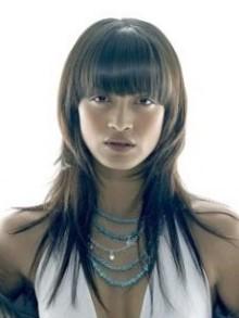 Укладка и выполнение стрижки рапсодия на длинных волосах