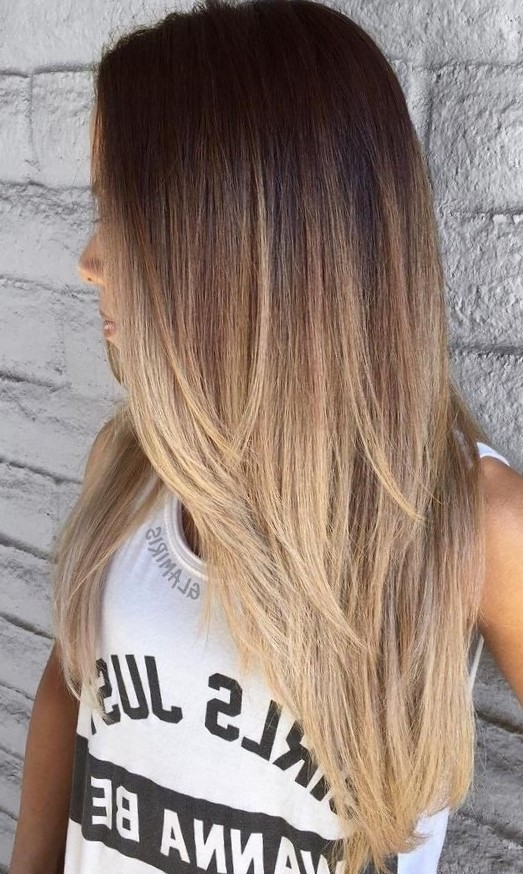 Модное окрашивание темных и светлых волос в стиле шатуш