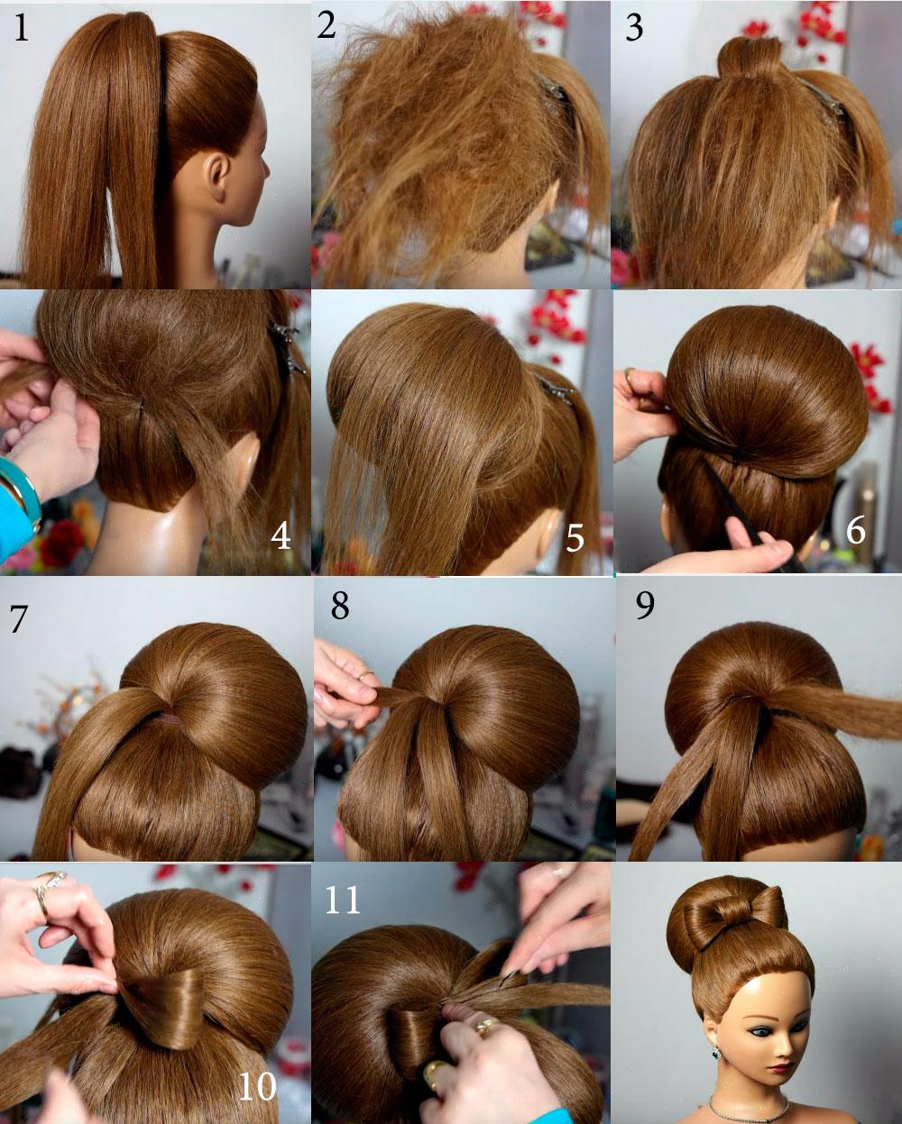 Как правильно из волос сделать бант