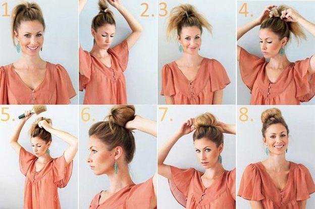 Причёски для средних волос на каждый день пошагово