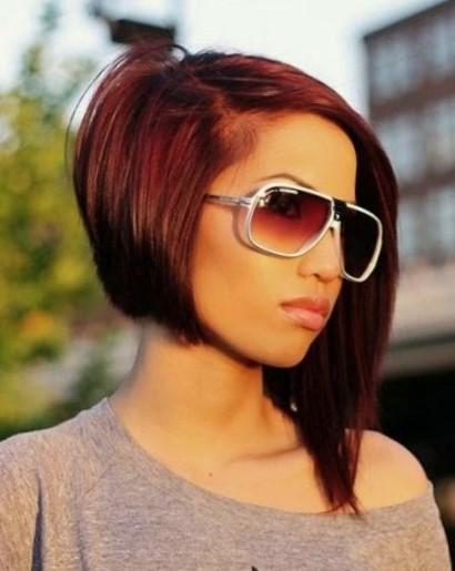 Красивые стрижки на средние волосы с асимметрией