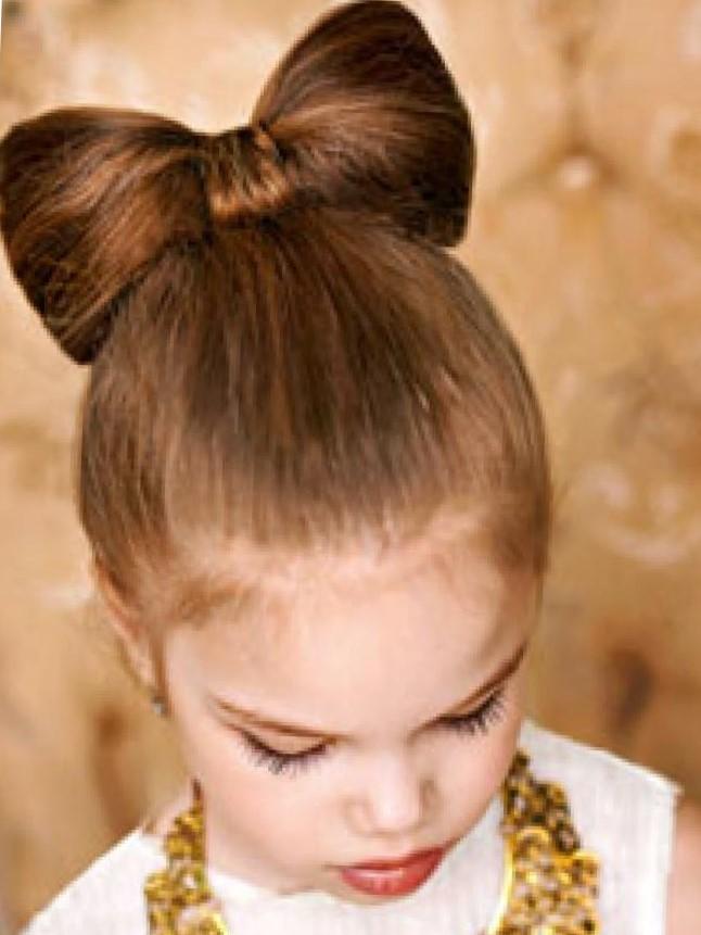 Прическа для девочек бантики из волос