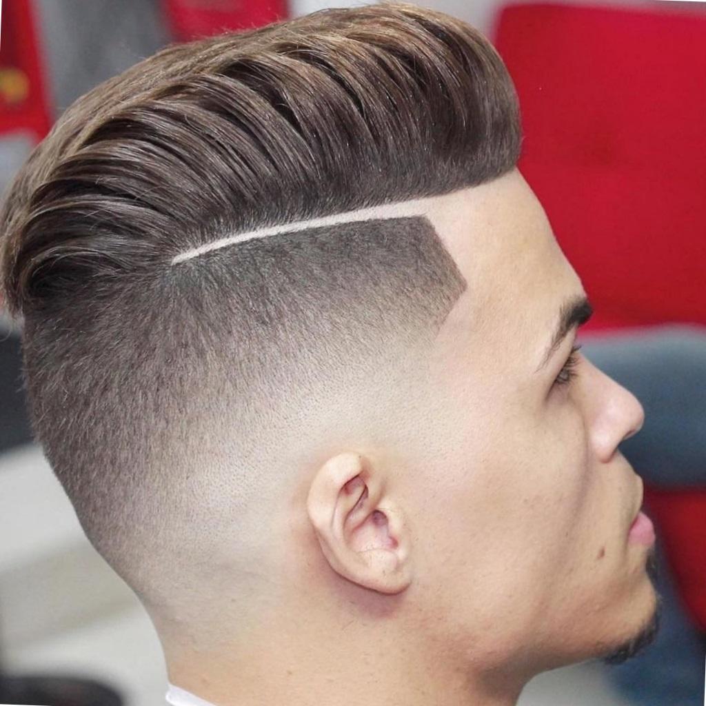 Варианты мужских причёсок с выбритыми висками6