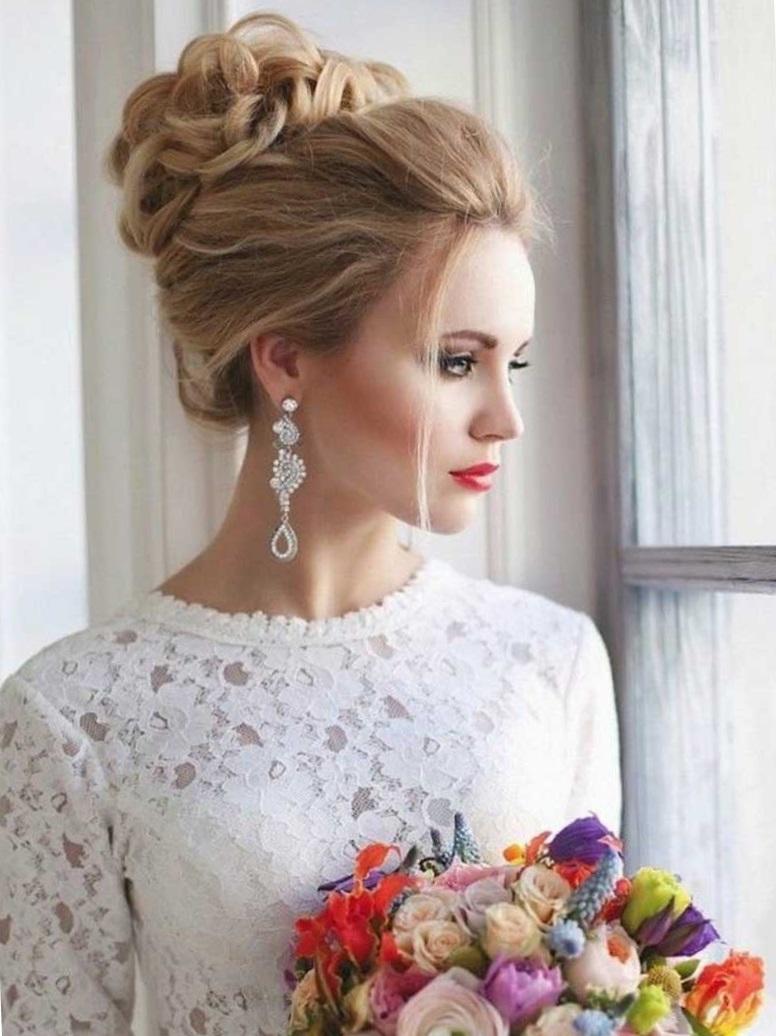Красивые и модные свадебные прически: фото с советами