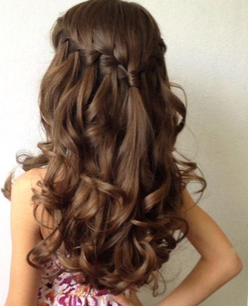 прически на длинные волосы для девочек