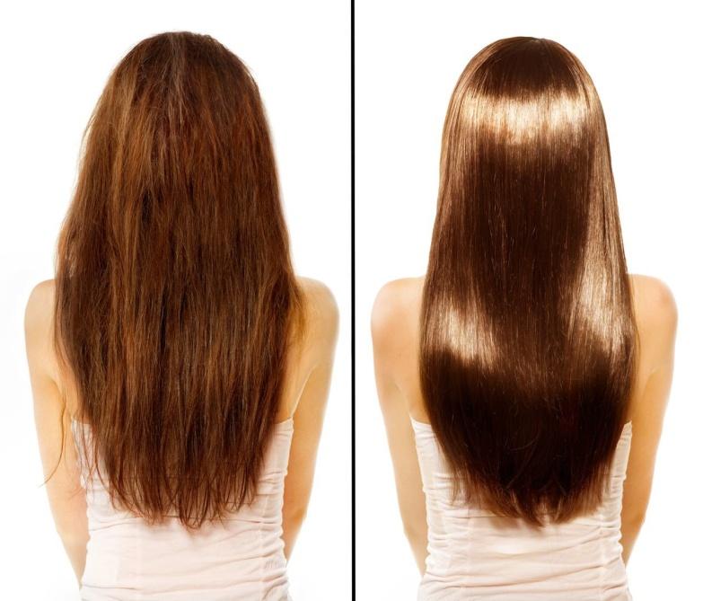 Фото до и после применения маски для волос из майонеза