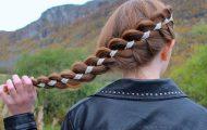 Пошаговая схема плетения косы из 4 прядей — прически с четырехпрядными косами
