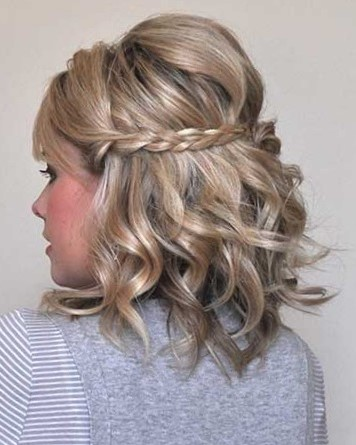Прически на стрижку каре с косами