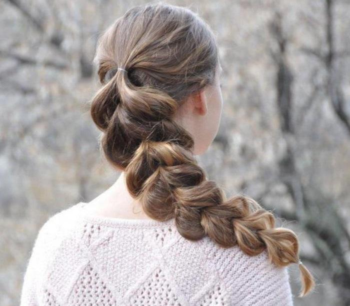 плетение кос с резинками