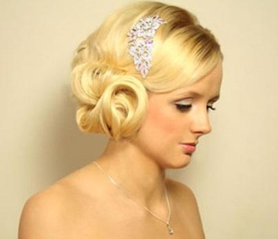 Свадебная прическа на волосы до плеч