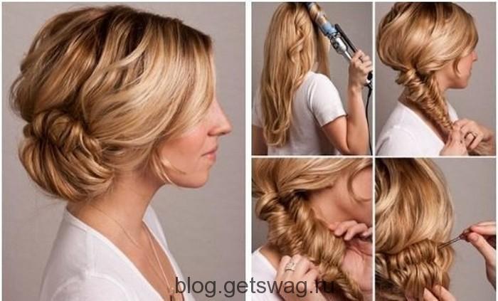 Небрежные прически на длинные волосы