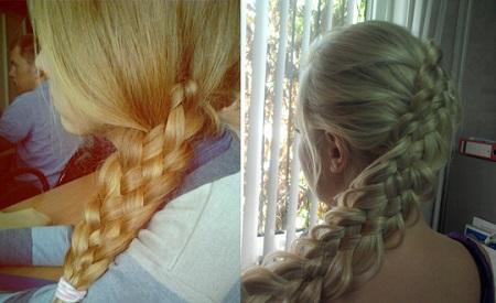 Как плести косу из 5 прядей - схема плетения и пошаговая инструкция