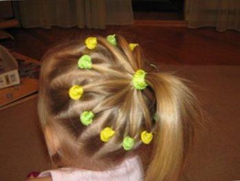 Прически детям на средние волосы в садик