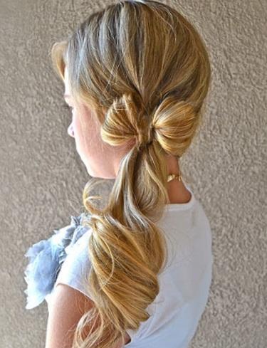 Прически для девочек на средние волосы