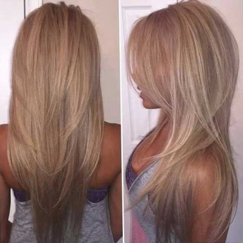 Прическа каскад на длинные волосы фото каскадных стрижек