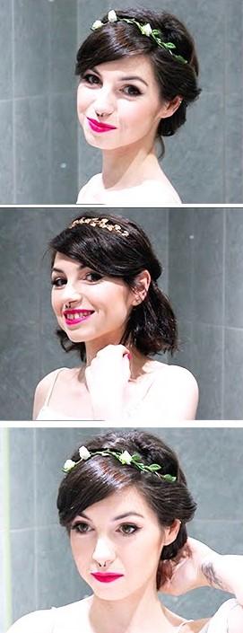 прически на короткие волосы на свадьбу