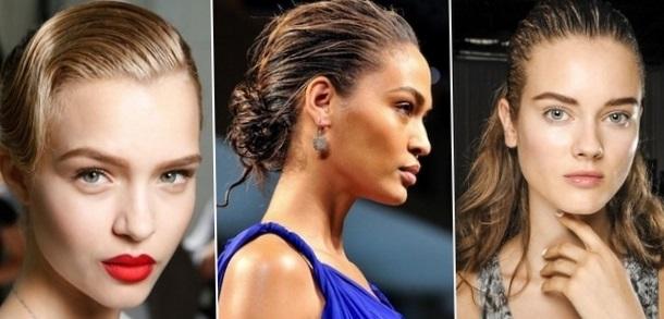 модные прически на длинные волосы 2017 с эффектом мокрых волос