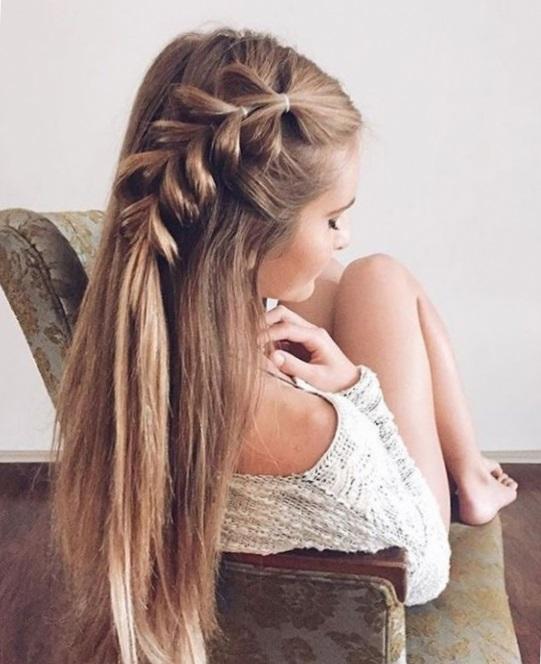 Прически с резинками на средние и длинные волосы (фото)
