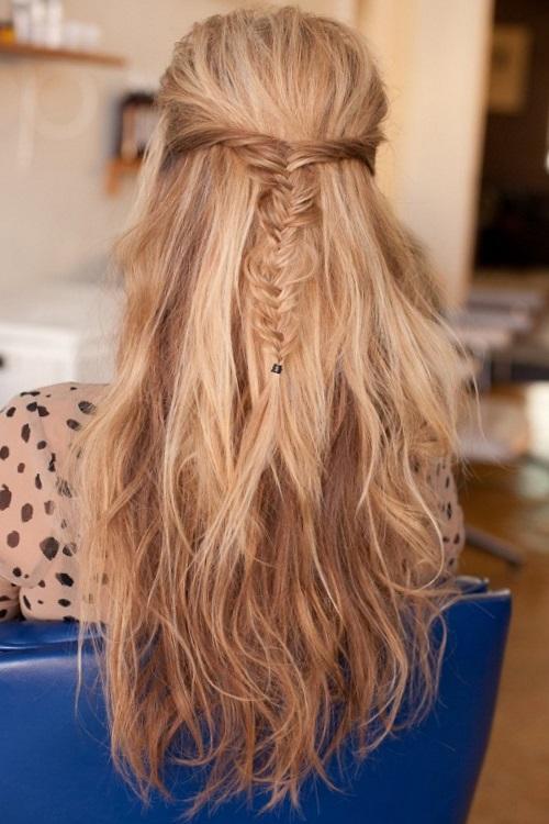 Праздничные прически с распущенными волосами