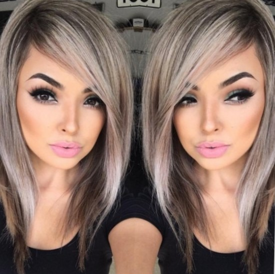 Стильное окрашивание на средние волосы 2018