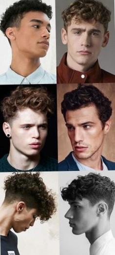 мужские прически на кудрявые волосы