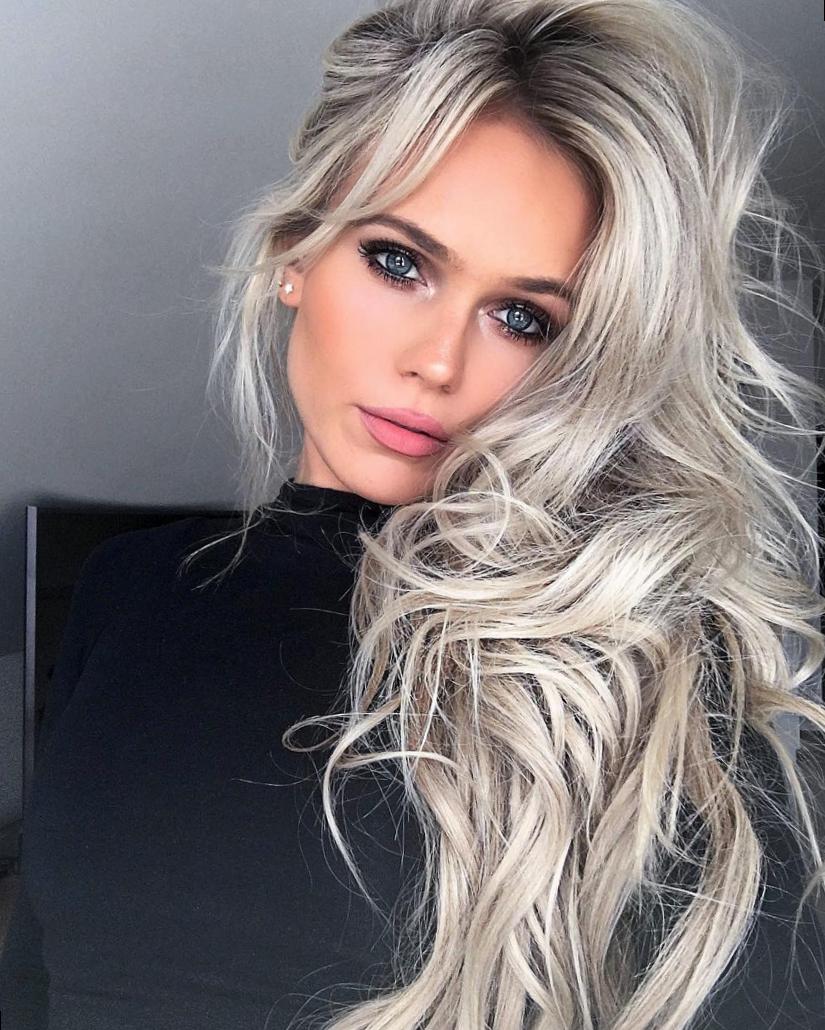 модное окрашивание волос 2018