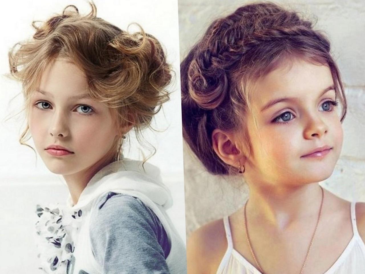 Праздничные прически на средние волосы для девочек фото