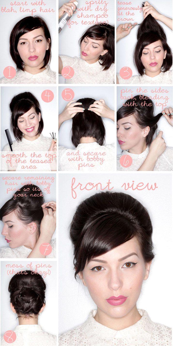 Самые красивые прически на короткие волосы