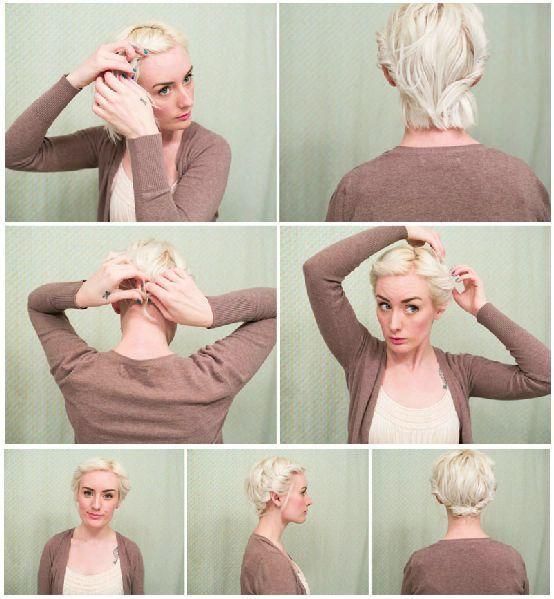 Причёска на очень короткие волосы своими руками 269