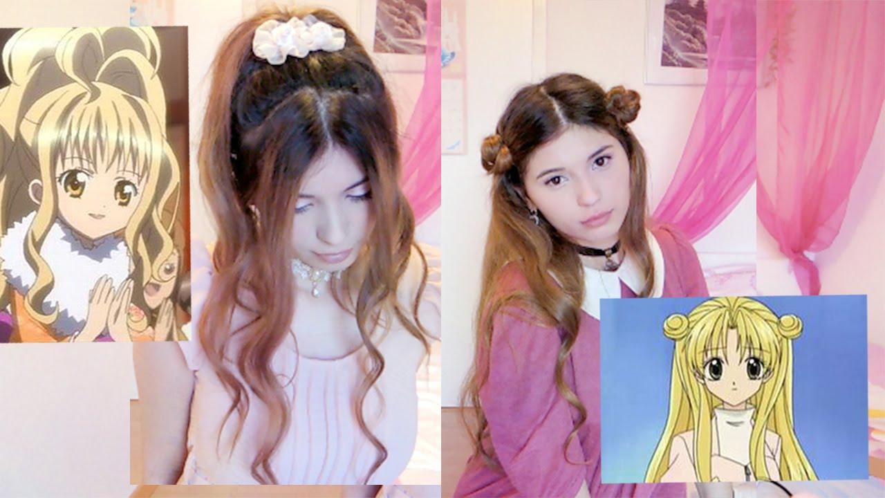 Яркие аниме прически для девушек с длинными волосами и короткой прической
