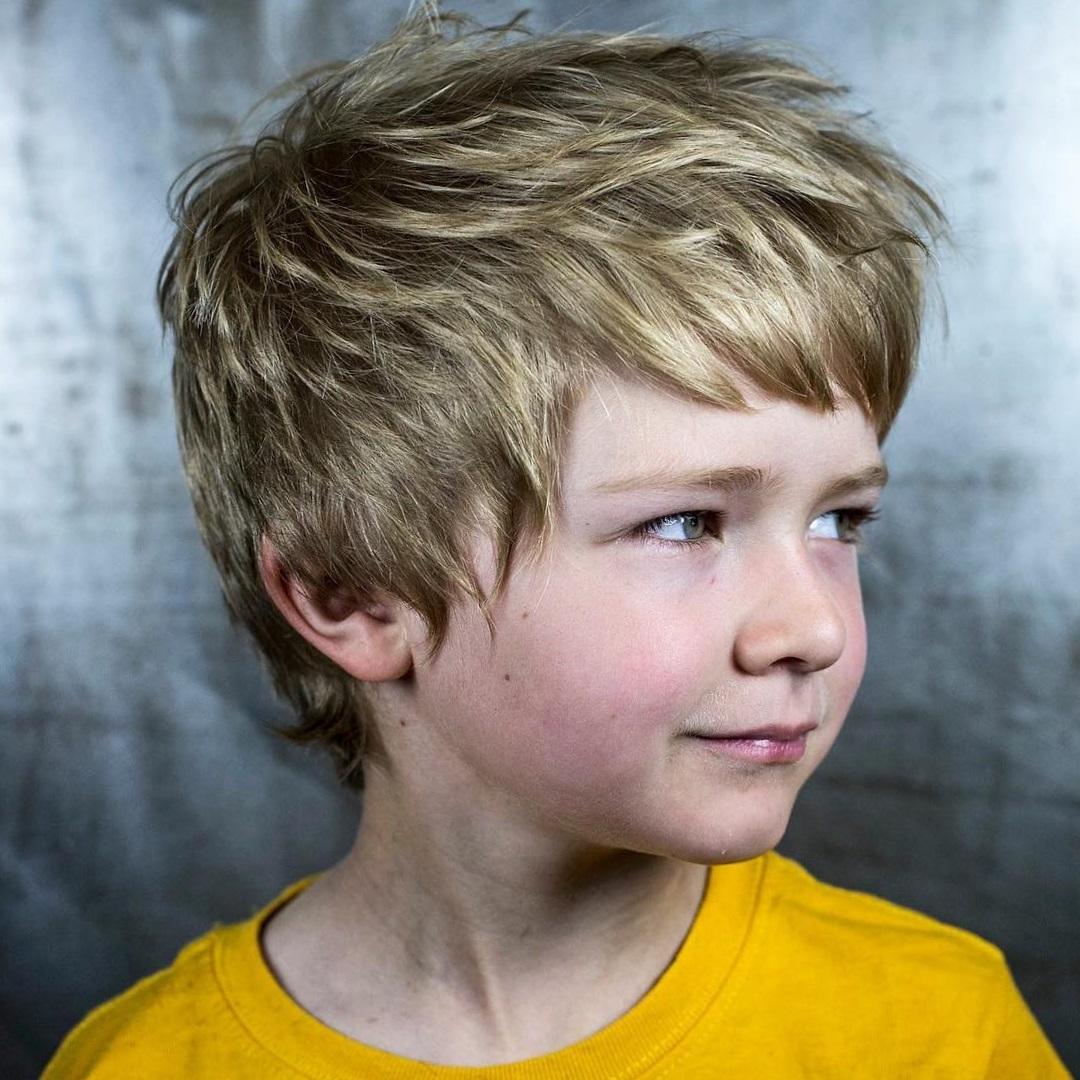 Стрижки для детей мальчиков 10 лет фото