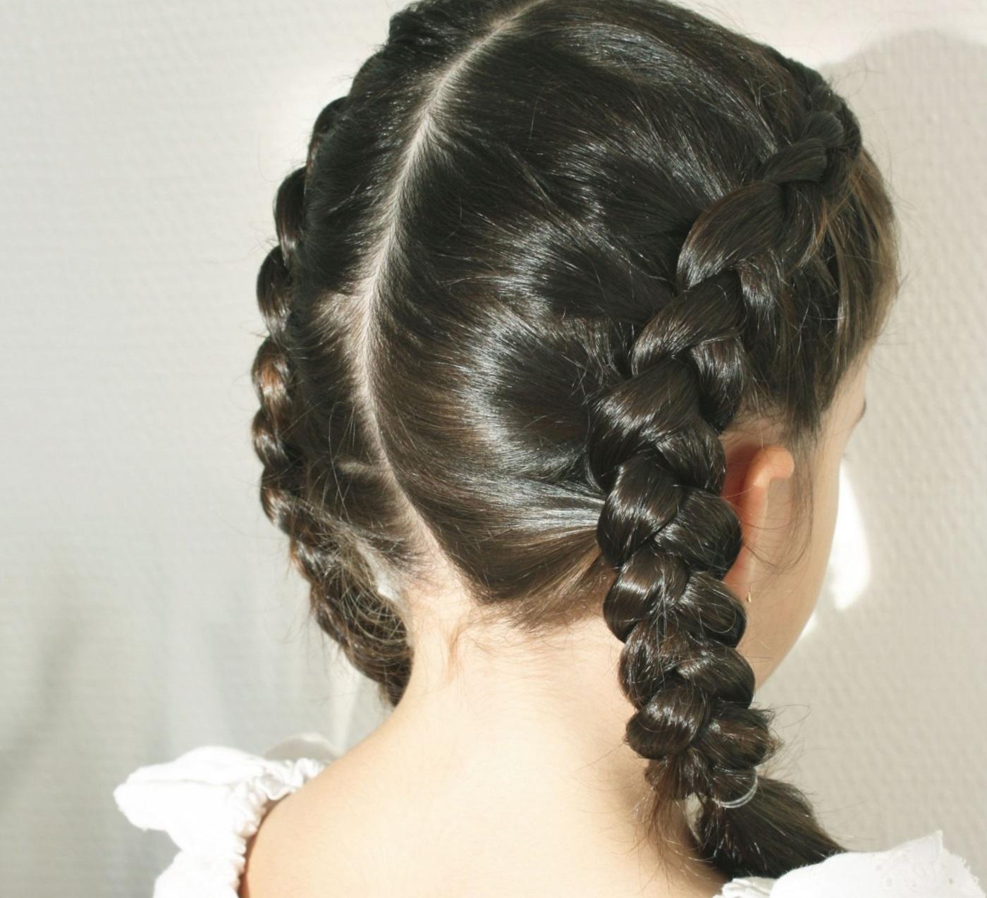 Французская коса наоборот